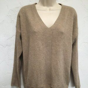 Eileen Fisher Size M Light Brown 100% Cashmere